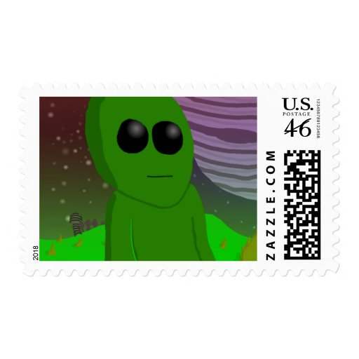 extraterrestrial postage stamps