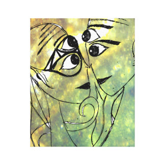Extraterrestrials In Love Canvas Print