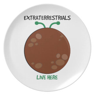 Extraterrestrials Live Here Party Plates