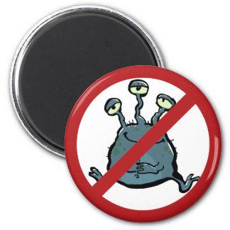 extraterrestrian - prohibited! 2 inch round magnet