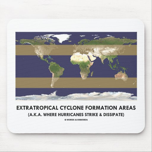 Extratropical Cyclone Formation Areas (Hurricane) Mousepads