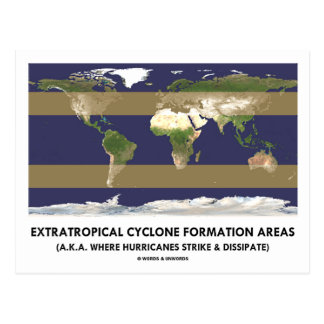 Extratropical Cyclone Formation Areas (Hurricane) Postcard