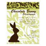 ¡Extravagancia del conejito del chocolate! Invitaciones Personales