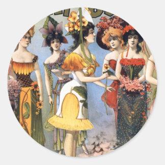 Extravagancia Hurly-Corpulenta y vodevil refinado Etiqueta Redonda