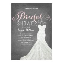 Extravagant Dress Chalkboard   Bridal Shower Card