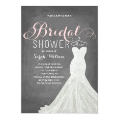 Extravagant Dress Chalkboard | Bridal Shower Card at Zazzle
