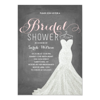 Extravagant Dress Chalkboard | Bridal Shower Card