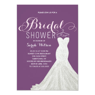 Extravagant Dress Custom Color | Bridal Shower Card