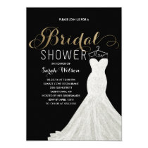 Extravagant Dress Gold Custom Color| Bridal Shower Card