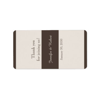 Extravagant Espresso Brown Wedding Lip Balm Label