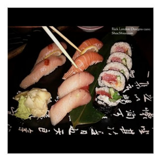 Extravagant Sushi Plate Print FineArt Poster Print