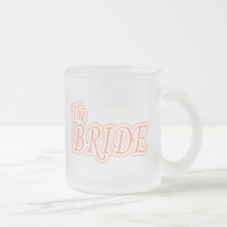 Extravaganza Bride 10 Oz Frosted Glass Coffee Mug