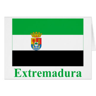 Extremadura flag with name card