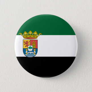 Extremadura (Spain) Flag Pinback Button