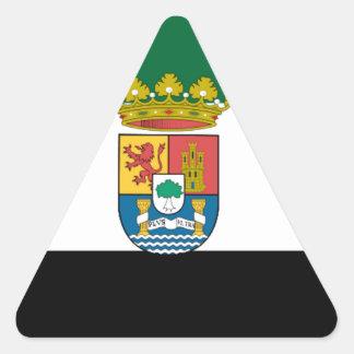 Extremadura (Spain)  Flag Triangle Sticker