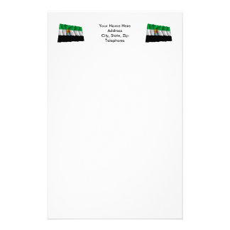 Extremadura waving flag stationery