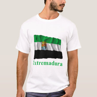 Extremadura waving flag with name T-Shirt