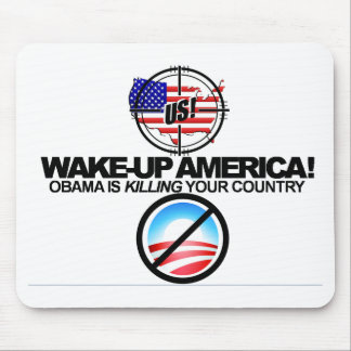 Extreme Anti Obama Bumper Stickers Mousepad 01