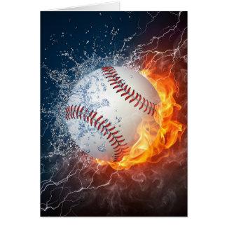 Extreme Baseball Greeting Card