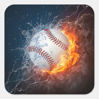 Extreme Baseball Square Sticker