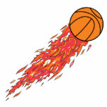 extreme basketball flames on fire cut outs