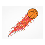 extreme basketball flames on fire personalized flyer