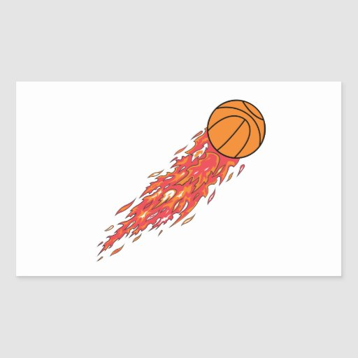 extreme basketball flames on fire stickers