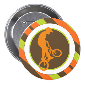 Extreme Bikers Silhouette Pinback Button