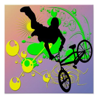 Extreme Biking Poster print