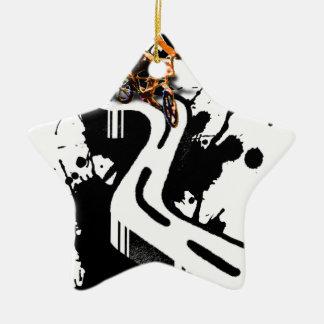Extreme BMX Rider Ceramic Ornament