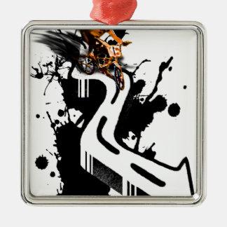 Extreme BMX Rider Metal Ornament