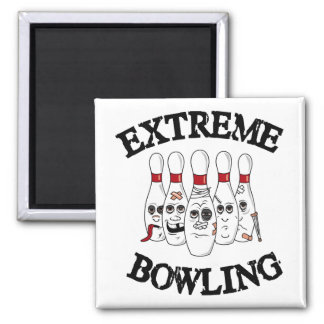 Extreme Bowling 2 Inch Square Magnet