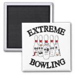 Extreme Bowling Fridge Magnet