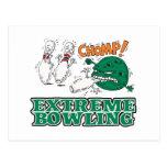 extreme bowling savage ball postcard