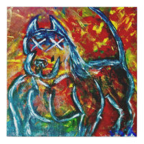 Extreme Bully Faux Canvas Print