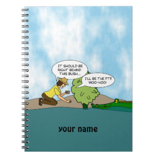 Extreme Cache Geocaching Cartoon Personalised Notebook