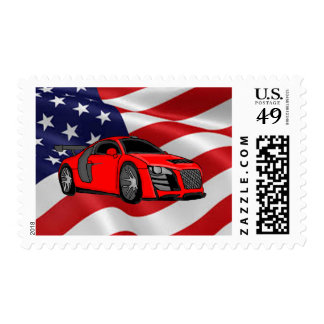 Extreme car design cards and paper products postage