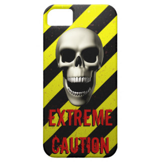 Extreme Caution Black & Yellow iPhone 5 Case