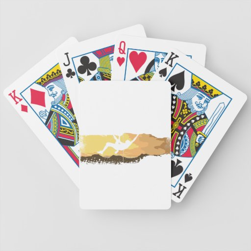 extreme climbing bicycle playing cards