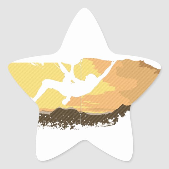 extreme climbing star sticker