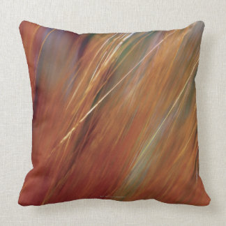 Extreme close-up of wheat growing in field throw pillow