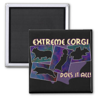 Extreme Corgi Magnet