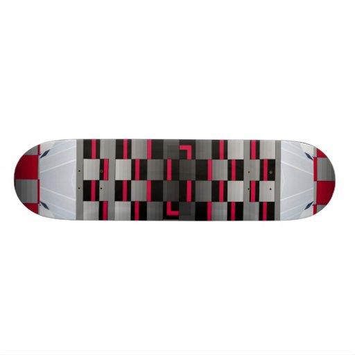 Extreme Design Red Silver Optical Slide Skateboard