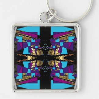 Extreme Designs Colorful Geometric Bold Dramatic Keychain