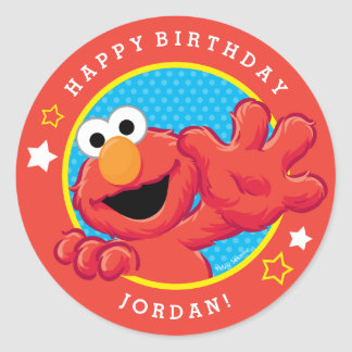 Extreme Elmo Birthday Classic Round Sticker
