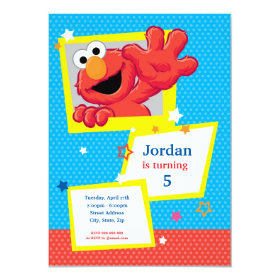 Extreme Elmo Birthday 4.5x6.25 Paper Invitation Card