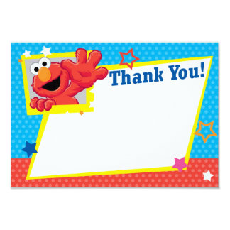 Extreme Elmo Thank You 3.5x5 Paper Invitation Card