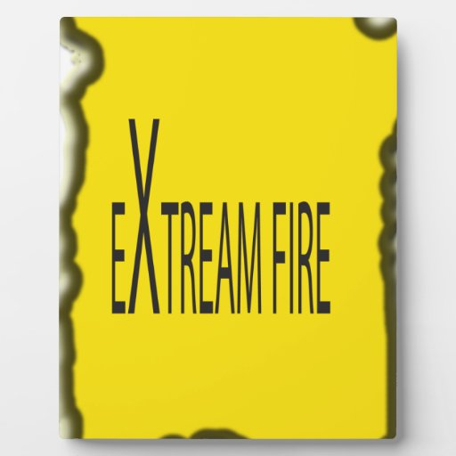 Extreme Fire Photo Plaque