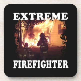Extreme Firefighter Beverage Coasters