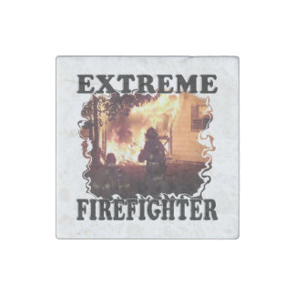 Extreme Firefighter Stone Magnet